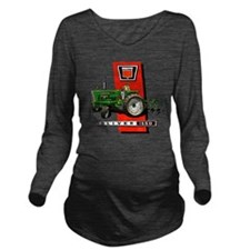 Oliver 1550 tractor Long Sleeve Maternity T-Shirt