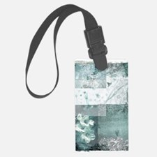 Teal composite Luggage Tag