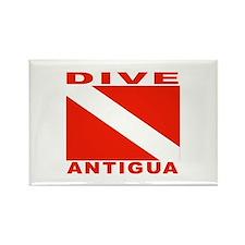 Dive Antigua Rectangle Magnet