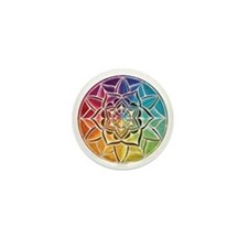 Rainbow Chakra Mandala Mini Button