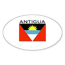 Antigua Flag Oval Decal