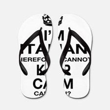 Keep Calm and italian Pride Flip Flops