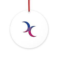 Crescent Moons Symbol - Bisexual Pride Flag Orname
