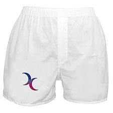 Crescent Moons Symbol - Bisexual Pride Flag Boxer