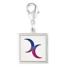 Crescent Moons Symbol - Bisexual Pride Flag Charms