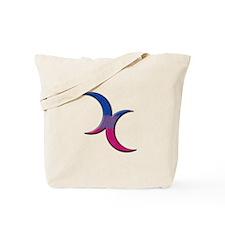 Crescent Moons Symbol - Bisexual Pride Flag Tote B