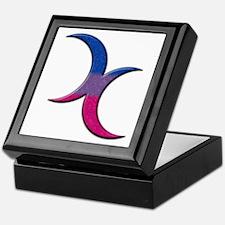 Crescent Moons Symbol - Bisexual Pride Flag Keepsa
