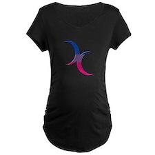 Crescent Moons Symbol - Bisexual Pride Flag Matern