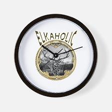 Elkaholic Gold Wall Clock