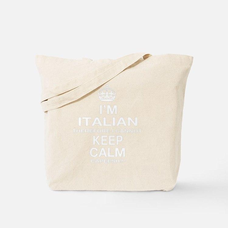 Keep Calm and Italian Pride Tote Bag