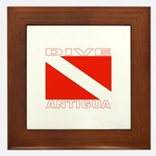Dive Antigua Framed Tile