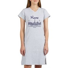 Rome_10x10_v1_Blue_Piazza del P Women's Nightshirt
