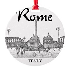 Rome_10x10_v1_Black_Piazza del Popo Ornament