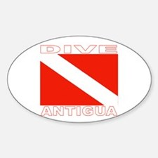 Dive Antigua Oval Decal
