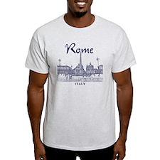 Rome_10x10_v1_Blue_Piazza del Popolo T-Shirt
