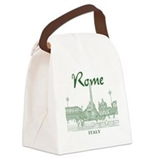 Rome_10x10_v1_Green_Piazza del Po Canvas Lunch Bag