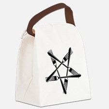 Fork Pentagram Canvas Lunch Bag