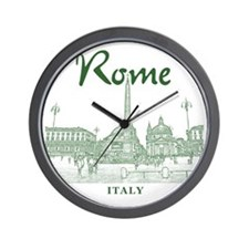 Rome_10x10_v1_Green_Piazza del Popolo Wall Clock