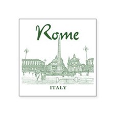 "Rome_10x10_v1_Green_Piazza  Square Sticker 3"" x 3"""