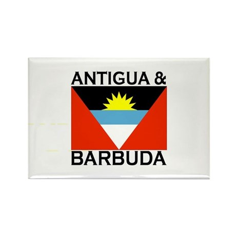 Antigua & Barbuda Flag Rectangle Magnet (100 pack)