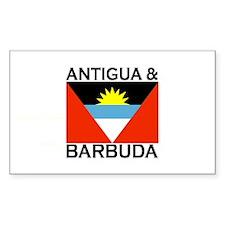 Antigua & Barbuda Flag Rectangle Decal