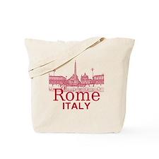 Rome_12X12_v1_Red_Piazza del Popolo Tote Bag