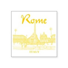 "Rome_10x10_v1_Yellow_Piazza Square Sticker 3"" x 3"""