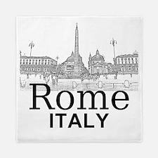 Rome_12X12_v1_Black_Piazza del Popolo Queen Duvet