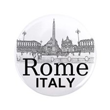 """Rome_12X12_v1_Black_Piazza del Popolo 3.5"""" Button"""