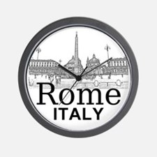 Rome_12X12_v1_Black_Piazza del Popolo Wall Clock