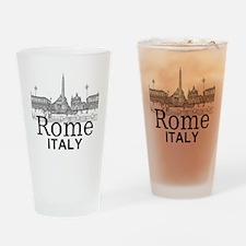 Rome_12X12_v1_Black_Piazza del Popo Drinking Glass