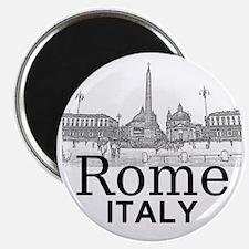 Rome_12X12_v1_Black_Piazza del Popolo Magnet