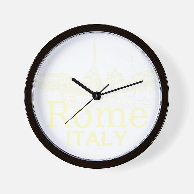 Rome_12X12_v1_Cream_Piazza del Popolo Wall Clock