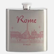 Rome_10x10_v1_Red_Piazza del Popolo Flask