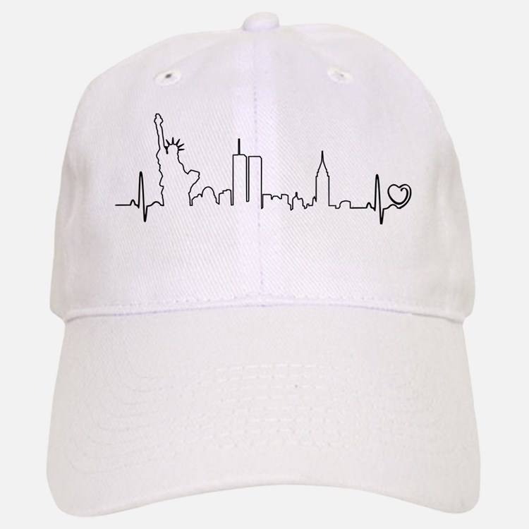 New York Heartbeat (Heart) Baseball Baseball Cap