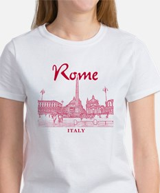 Rome_10x10_v1_Red_Piazza del Popol Women's T-Shirt