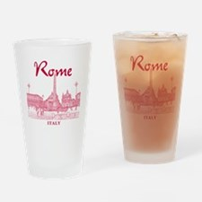Rome_10x10_v1_Red_Piazza del Popolo Drinking Glass