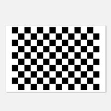Black and white checkerbo Postcards (Package of 8)