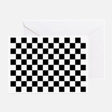 Black and white checkerboard Greeting Card