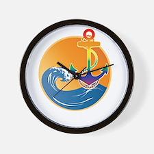 GLASS NMAWC Wall Clock