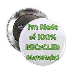 Made of 100% Recycled (green) Button
