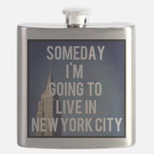 Someday I'm Going To Live In New York City Flask