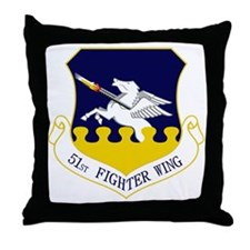 51st FW Throw Pillow