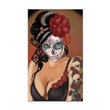 Skulls and Roses Muertos Rectangle Car Magnet