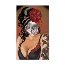 Skulls and Roses Muertos Decal