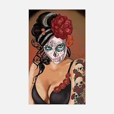 Skulls and Roses Muertos Decal