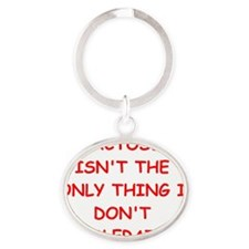 tolerate Oval Keychain
