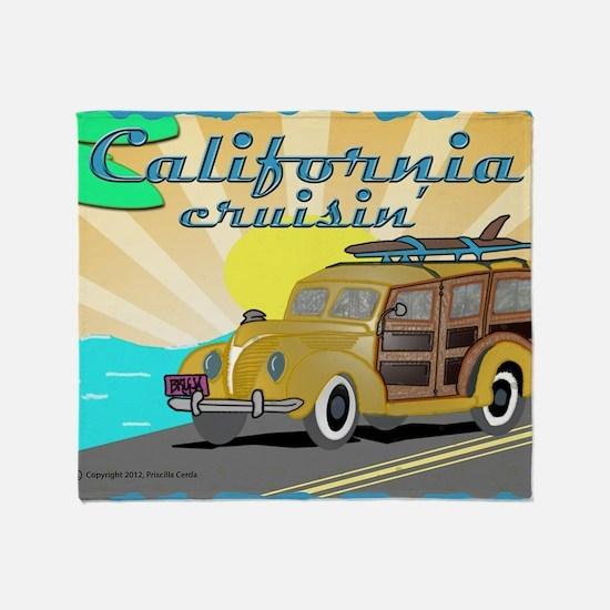 california dreamin Throw Blanket