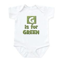 G is for Green Infant Bodysuit