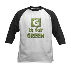 G is for Green Kids Baseball Jersey
